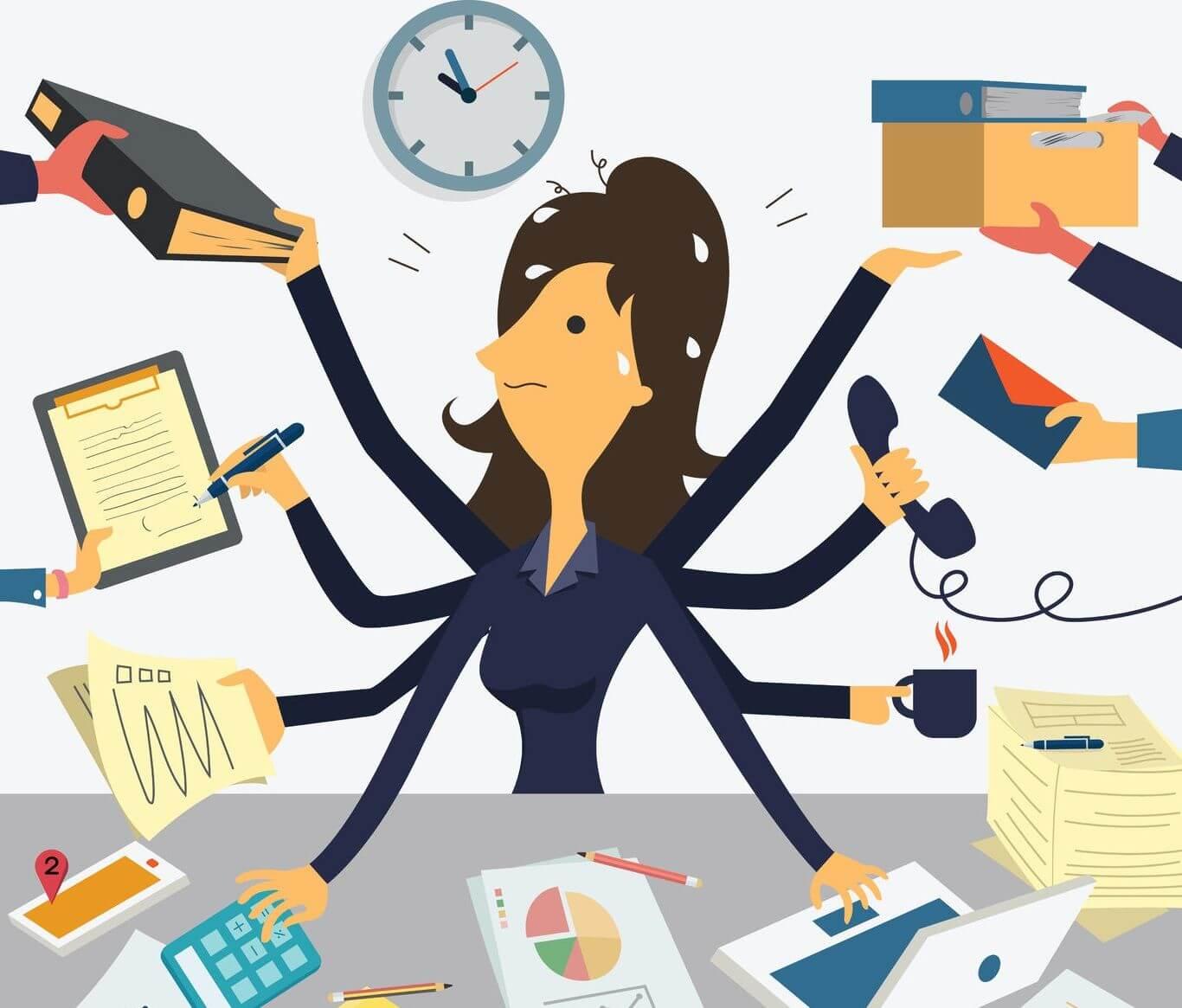 La multitarea reduce la efectividad